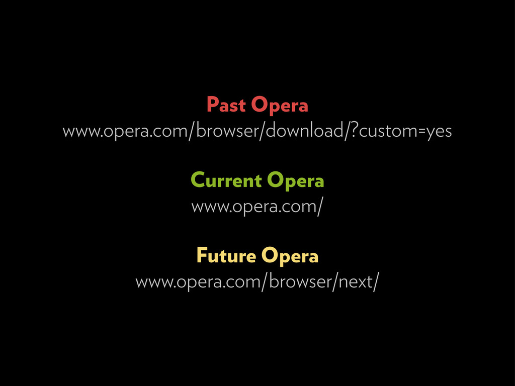Past Opera www.opera.com/browser/download/?cust...