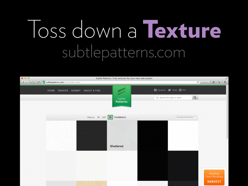 subtlepatterns.com Toss down a Texture
