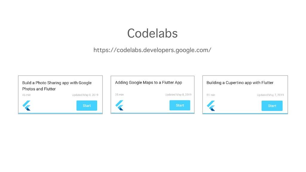 https://codelabs.developers.google.com/ Codelabs