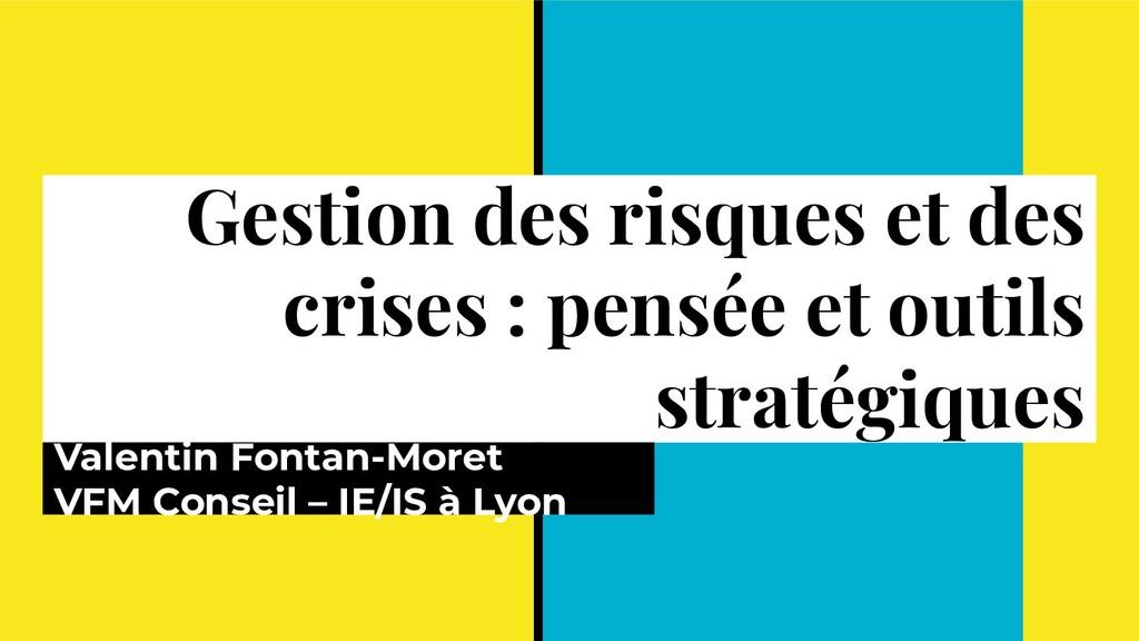 Gestion des risques et des crises : pensée et o...