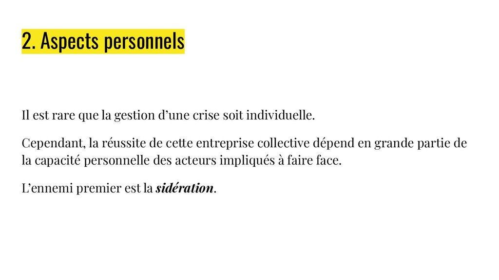 2. Aspects personnels Il est rare que la gestio...