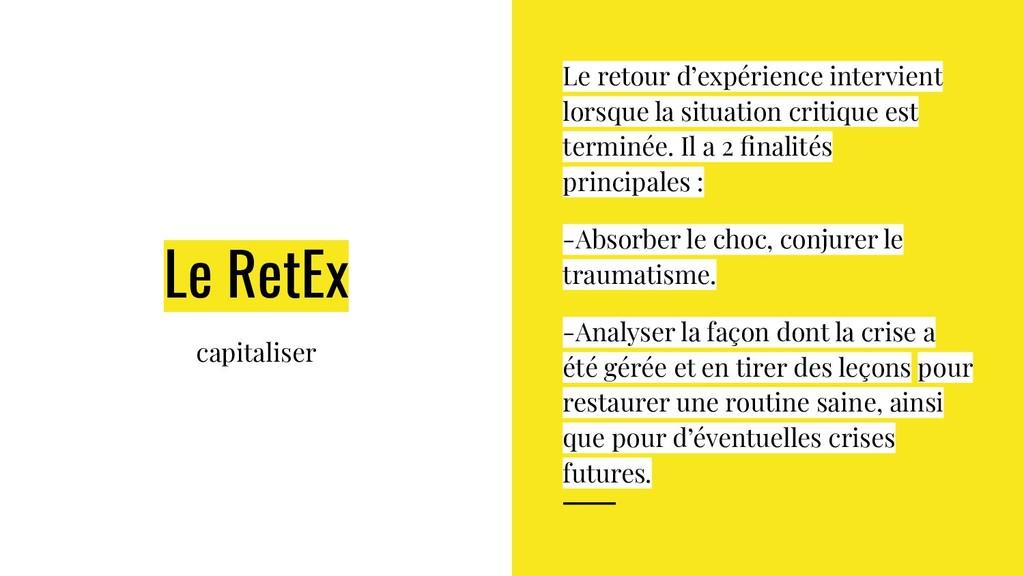 Le RetEx capitaliser Le retour d'expérience int...