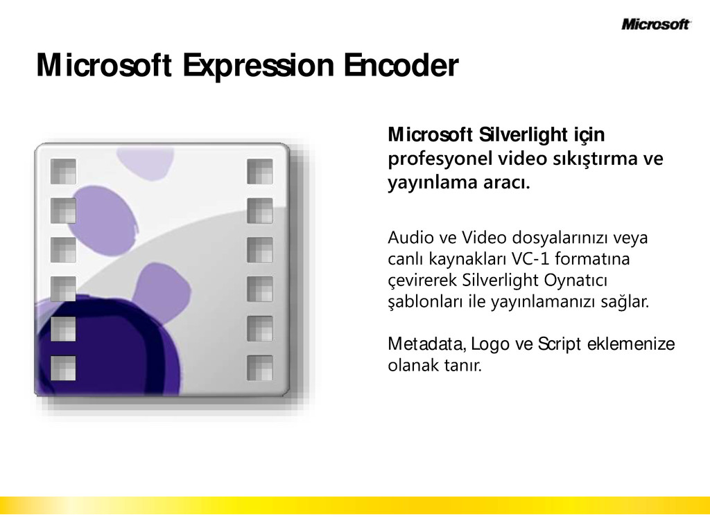 Microsoft Expression Encoder Microsoft Silverli...
