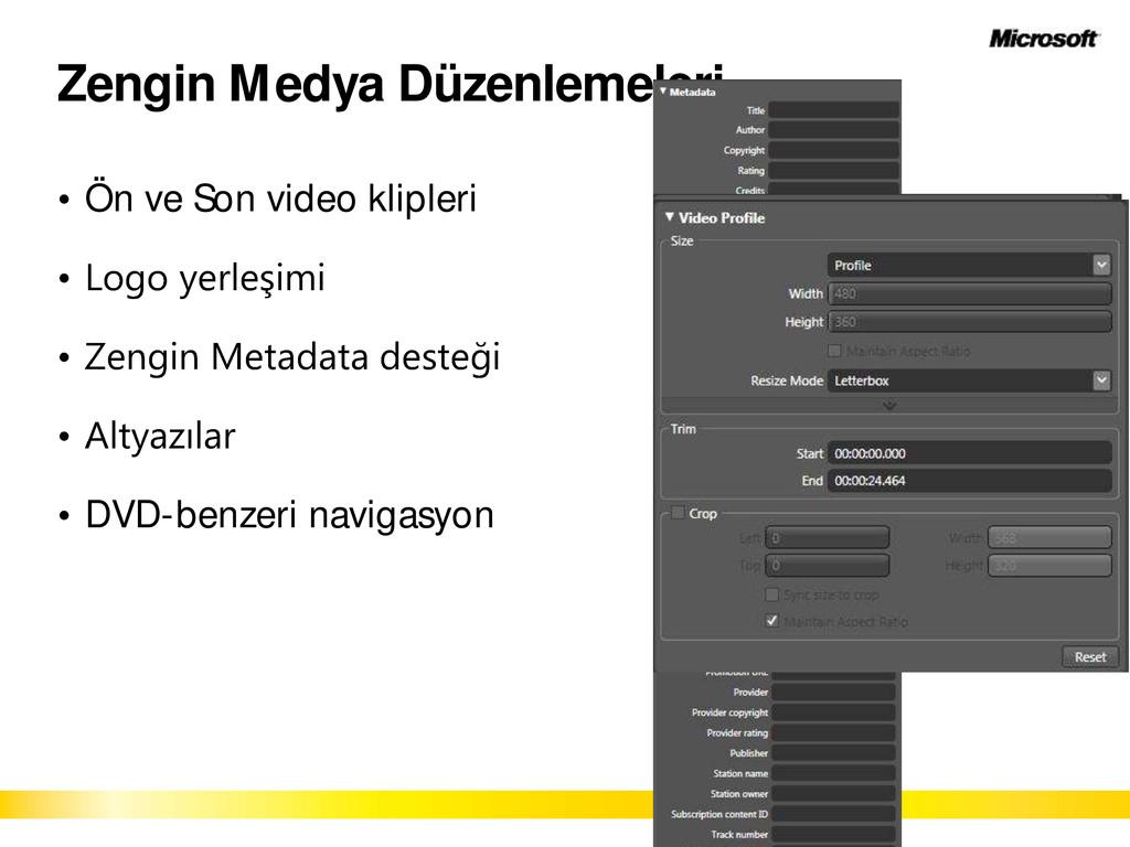 Zengin Medya Düzenlemeleri Ön ve Son video klip...