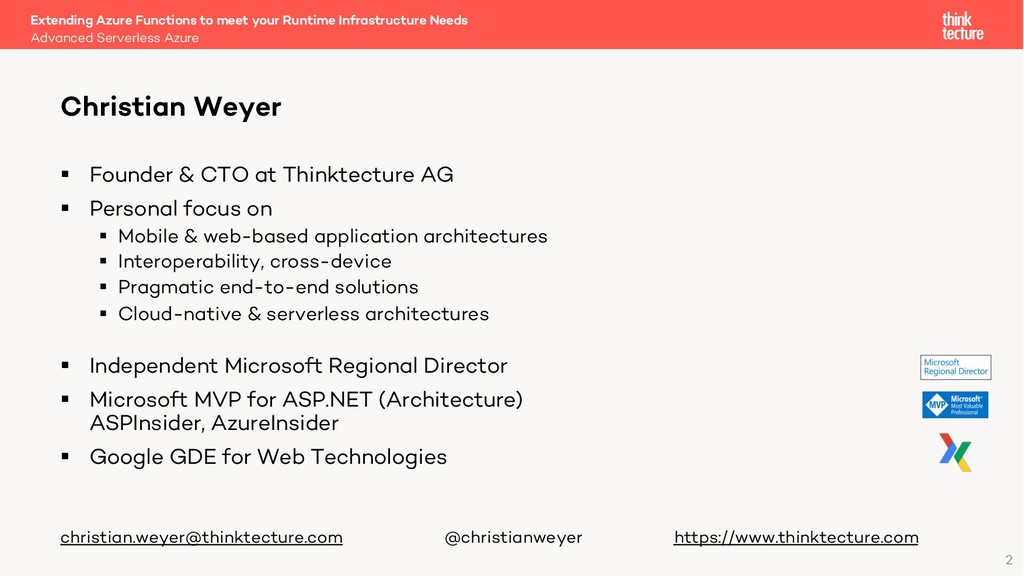 2 § Founder & CTO at Thinktecture AG § Personal...