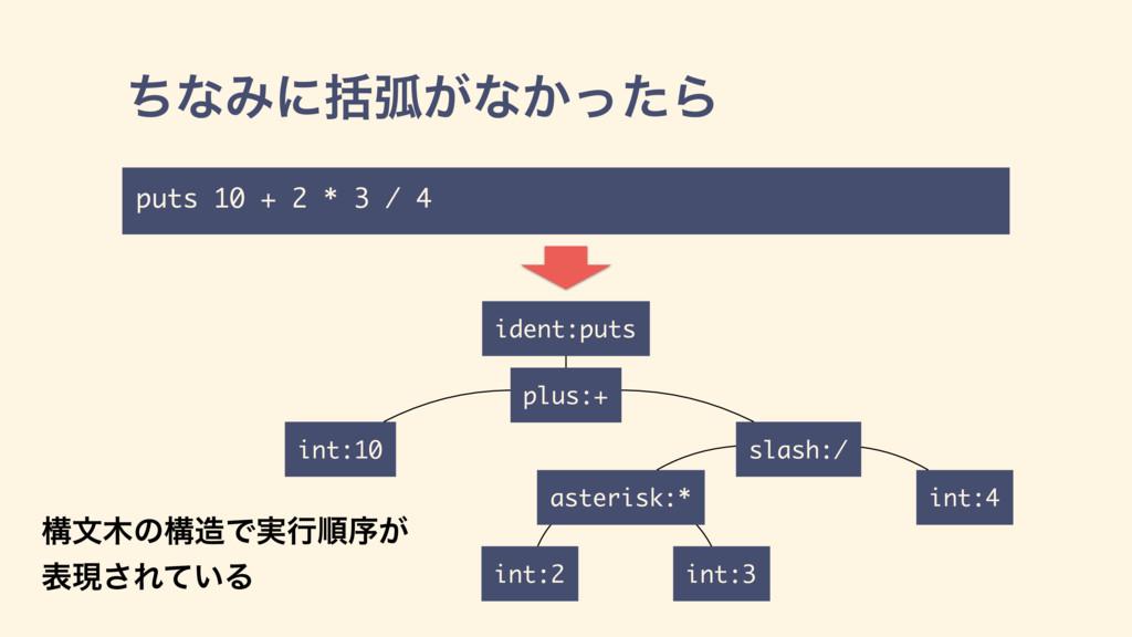 int:10 plus:+ int:2 asterisk:* int:3 ident:puts...