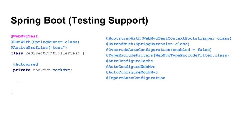 Spring Boot (Testing Support) @WebMvcTest @RunW...
