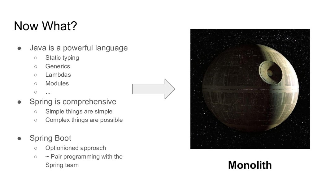 Now What? ● Java is a powerful language ○ Stati...