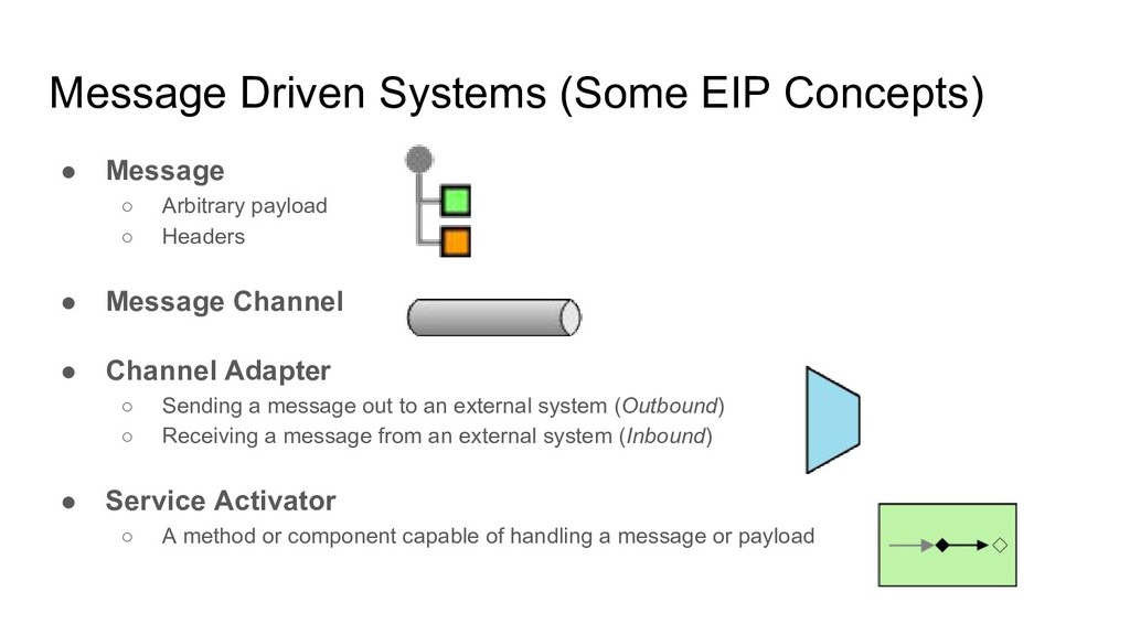 Message Driven Systems (Some EIP Concepts) ● Me...