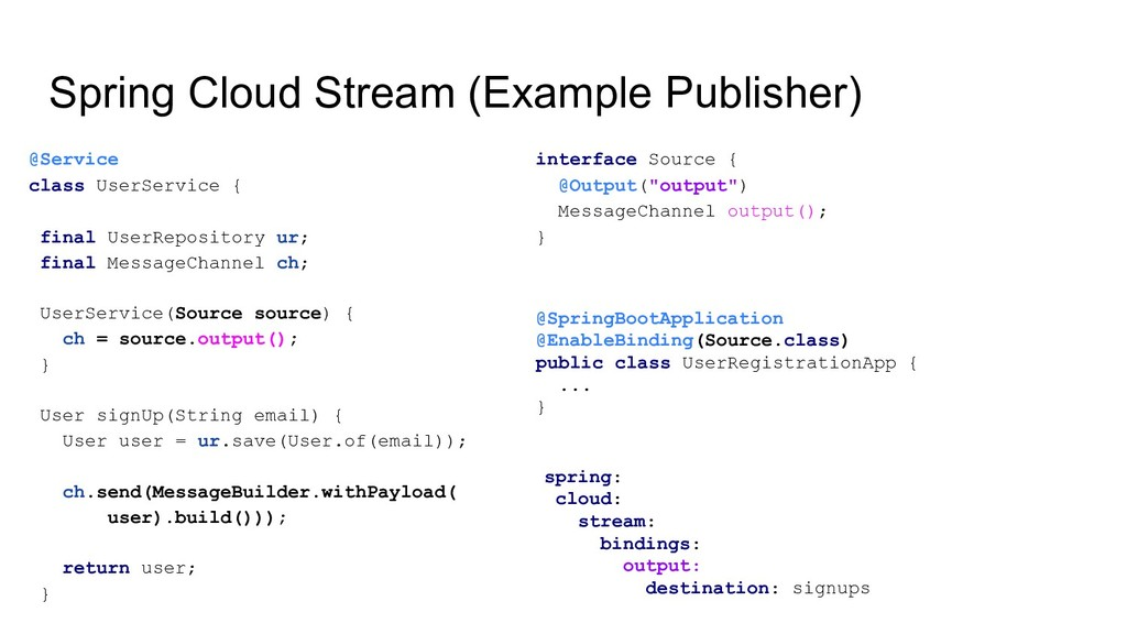 Spring Cloud Stream (Example Publisher) @Servic...