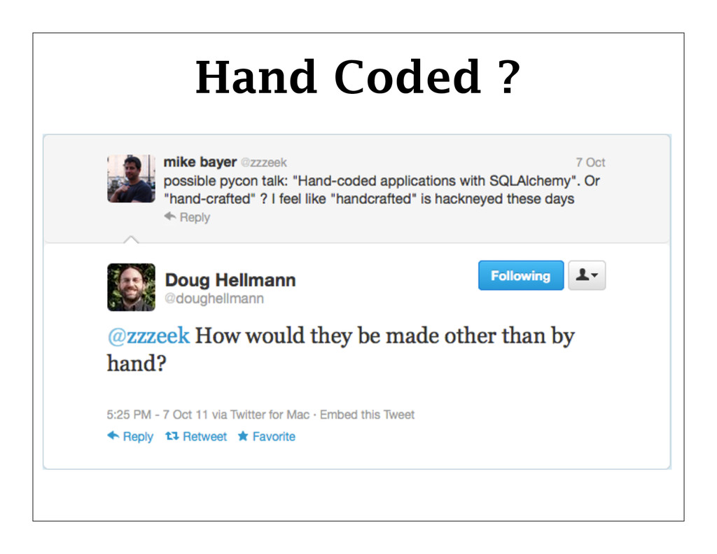 Hand Coded ?