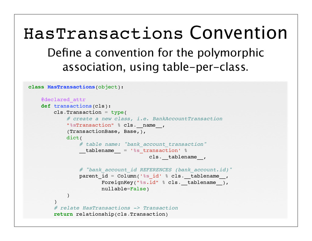 Define a convention for the polymorphic associat...