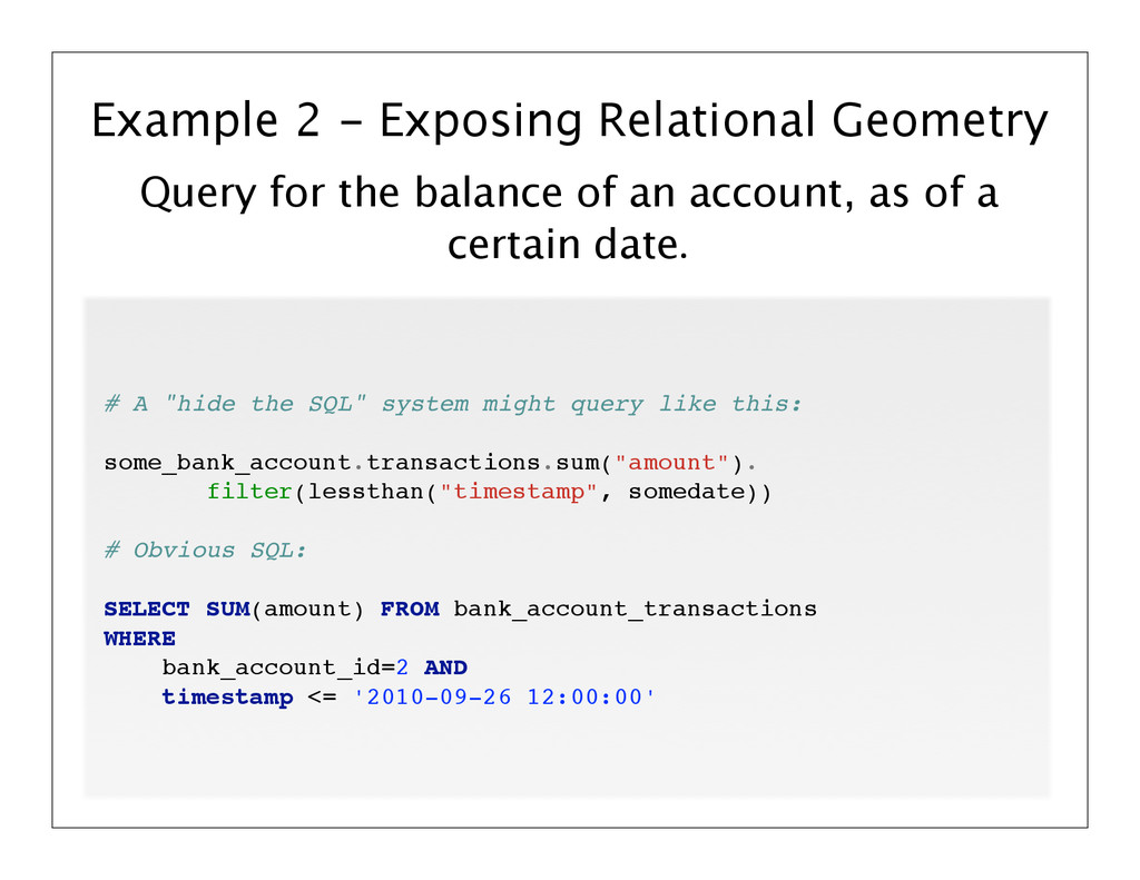 Query for the balance of an account, as of a ce...