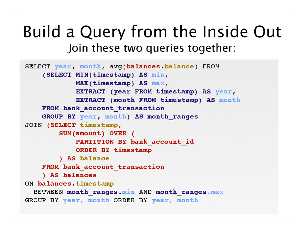 Join these two queries together: Build a Query ...