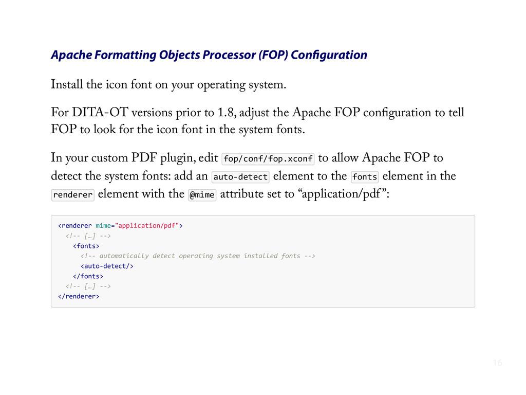 Apache Formatting Objects Processor (FOP) Config...