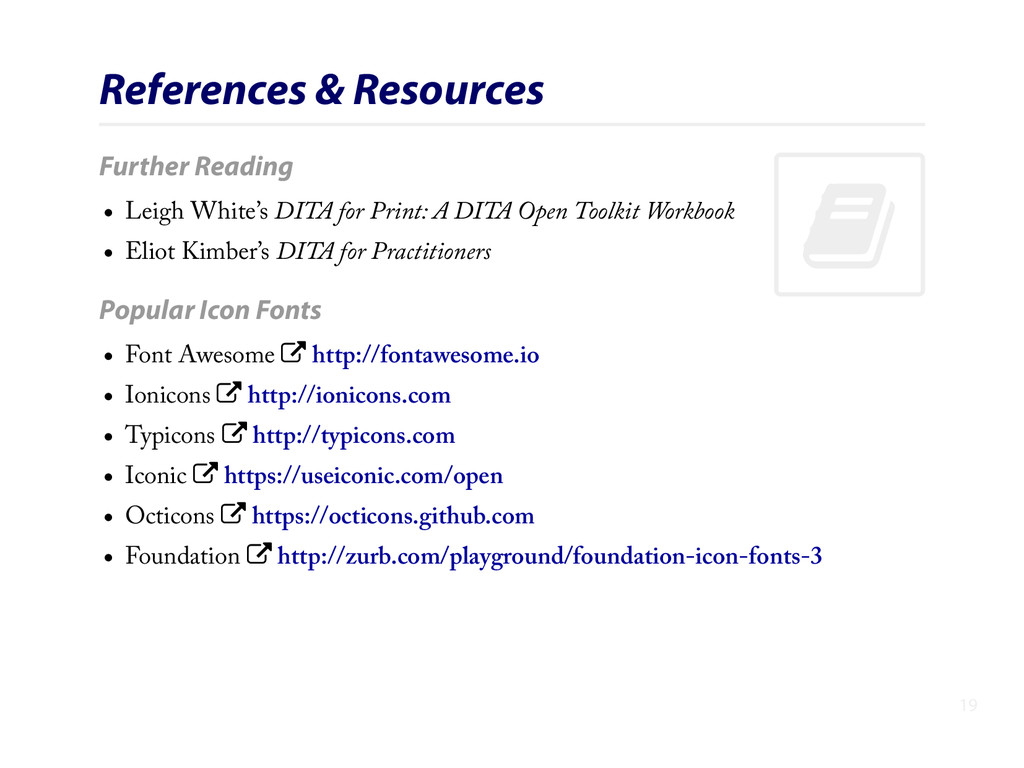 . References & Resources Further Reading Leigh ...