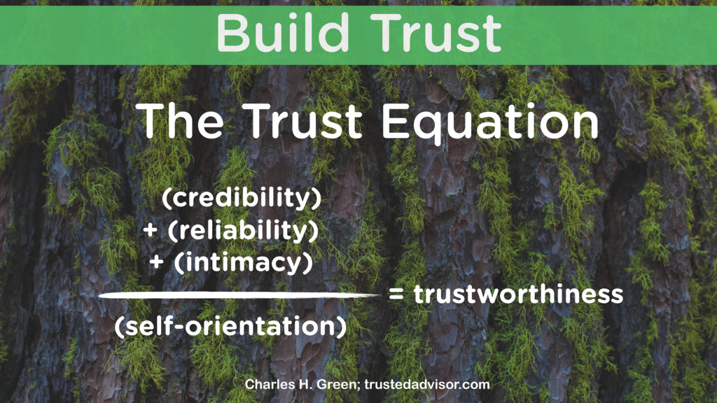 Build Trust The Trust Equation (credibility) (s...