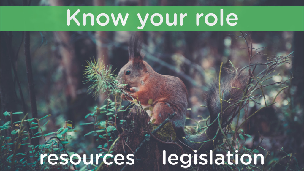 Know your role resources legislation