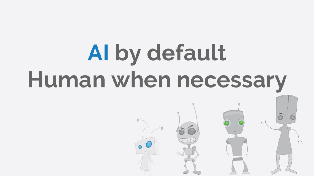 AI by default Human when necessary
