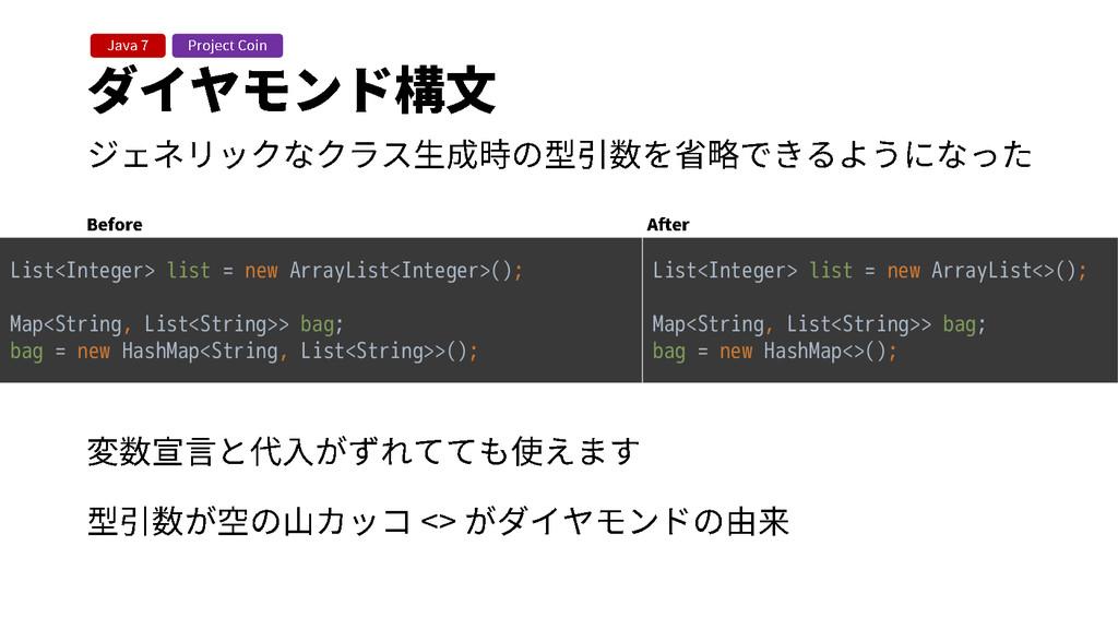 List<Integer> list = new ArrayList<Integer>(); ...