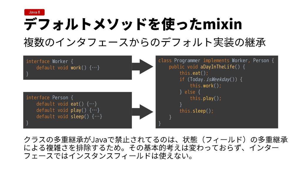 interface Worker { default void work() {…} } in...