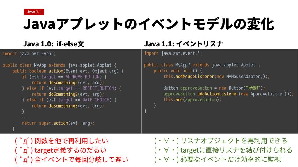 import java.awt.Event; public class MyApp exten...