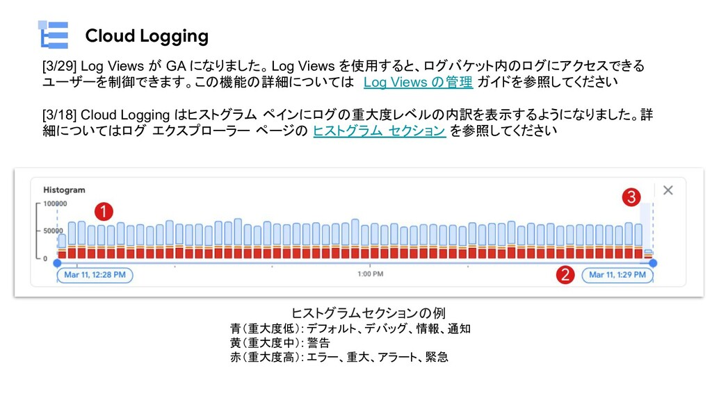 Cloud Logging [3/29] Log Views が GA になりました。Log ...
