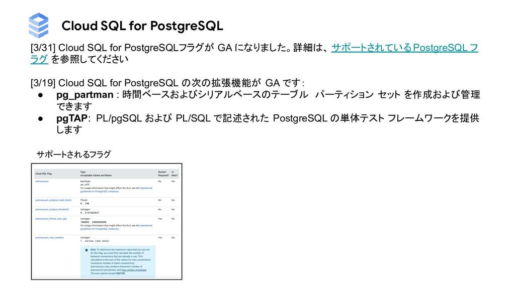 Cloud SQL for PostgreSQL [3/31] Cloud SQL for P...