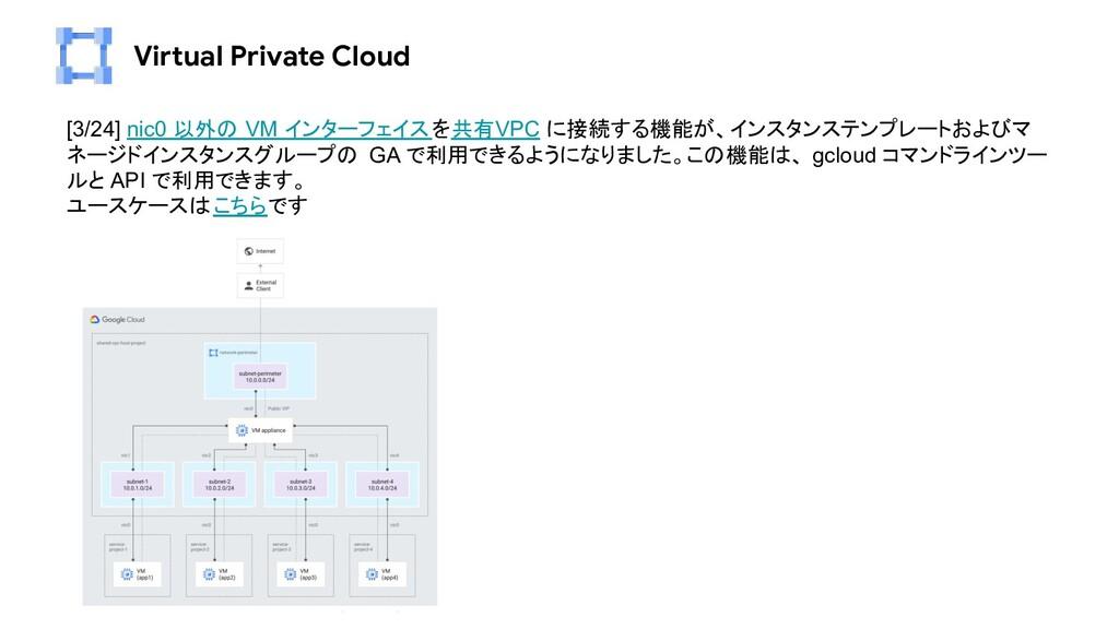 Virtual Private Cloud [3/24] nic0 以外の VM インターフェ...
