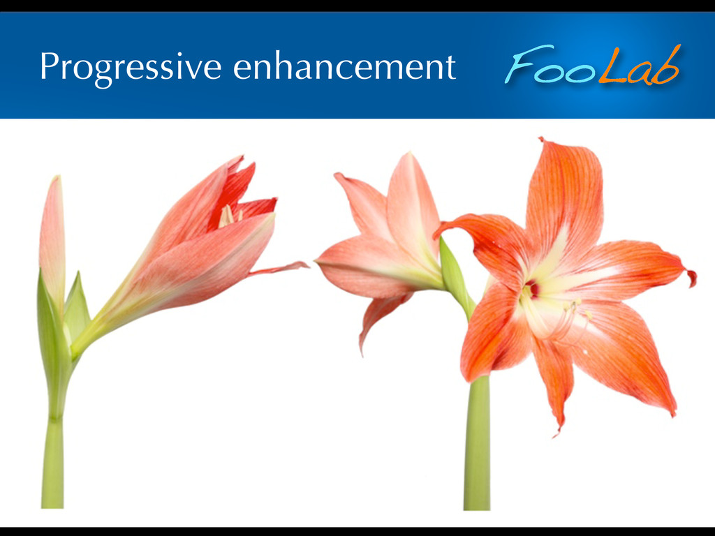 FooLab Progressive enhancement