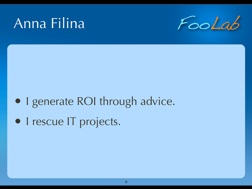 FooLab Anna Filina • I generate ROI through adv...