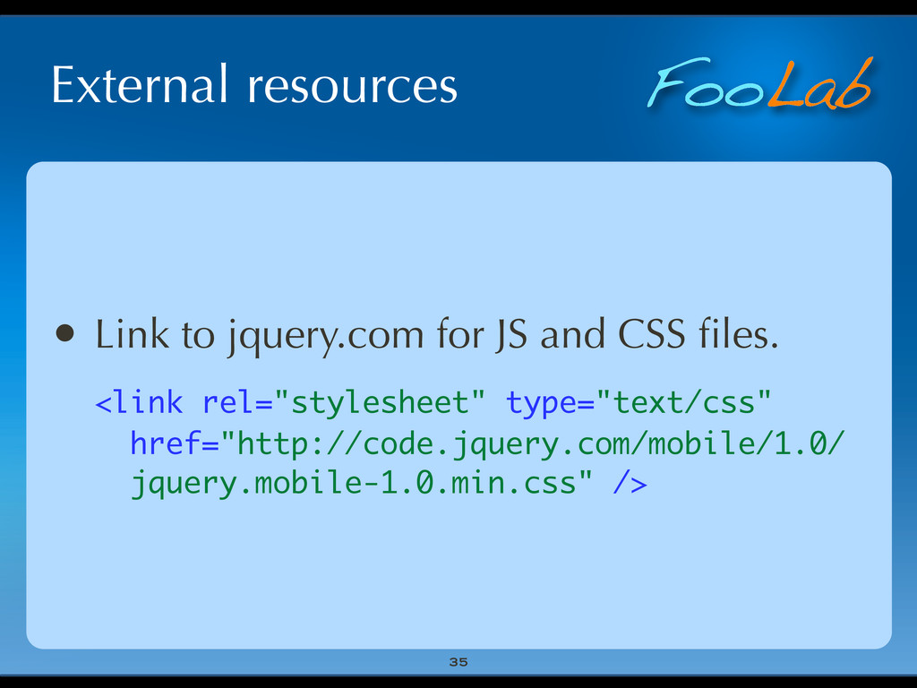 FooLab External resources 35 • Link to jquery.c...
