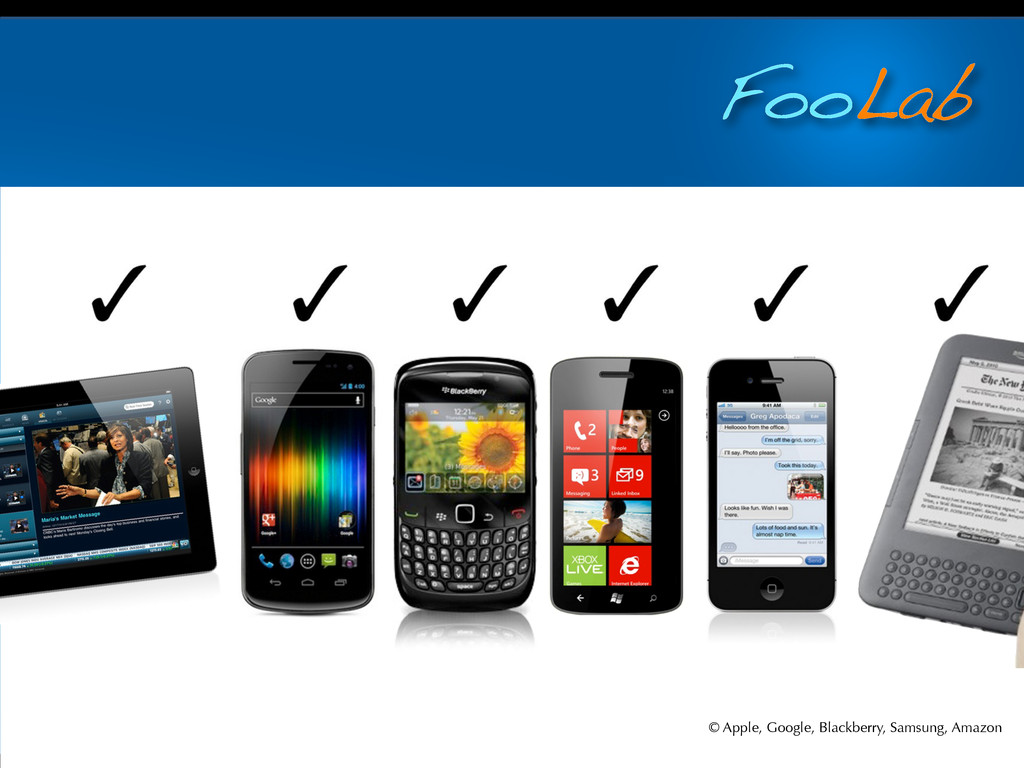 FooLab © Apple, Google, Blackberry, Samsung, Am...