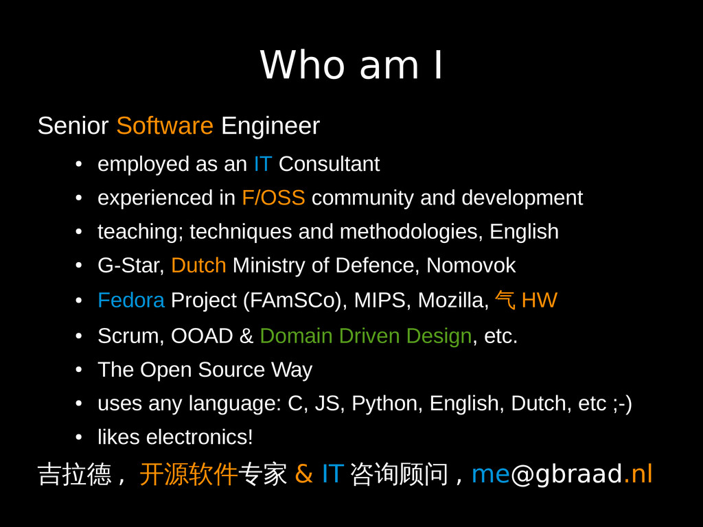 Who am I Senior Software Engineer ● employed as...