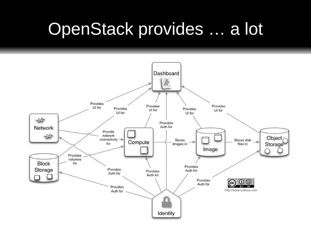 OpenStack provides … a lot