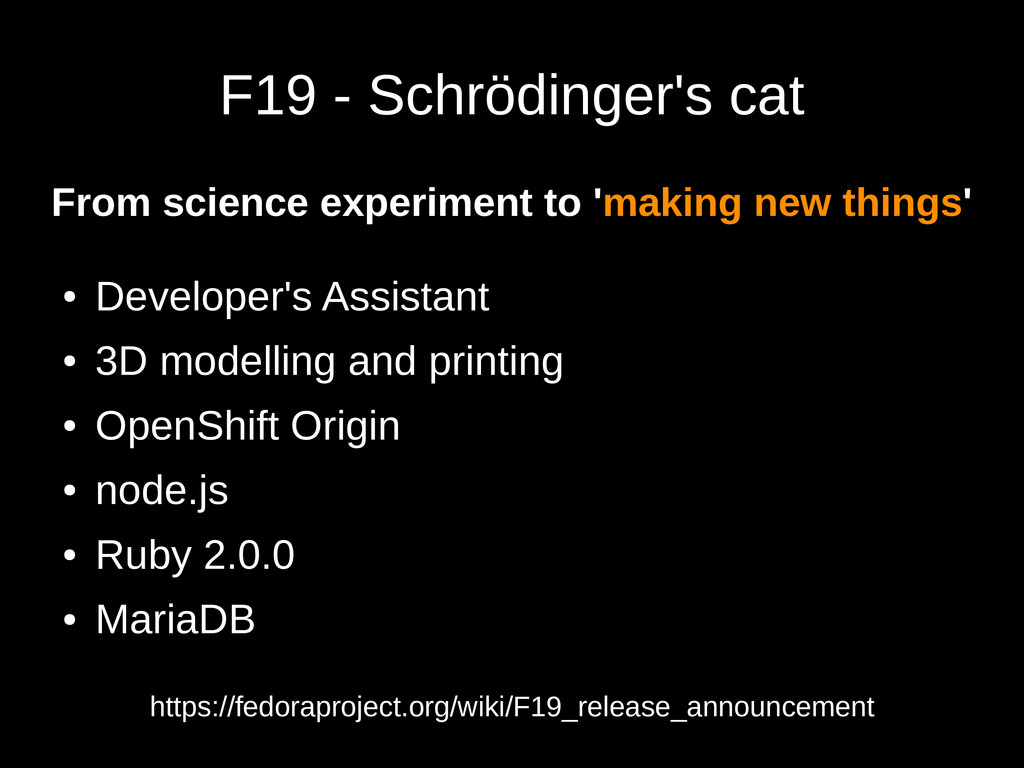 F19 - Schrödinger's cat From science experiment...