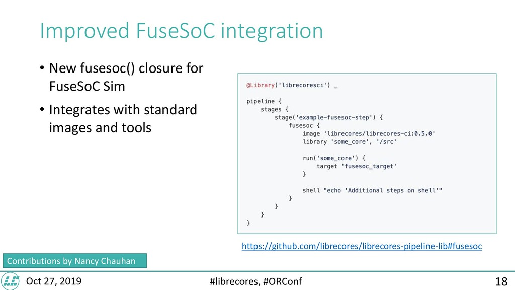 #librecores, #ORConf Oct 27, 2019 Improved Fuse...