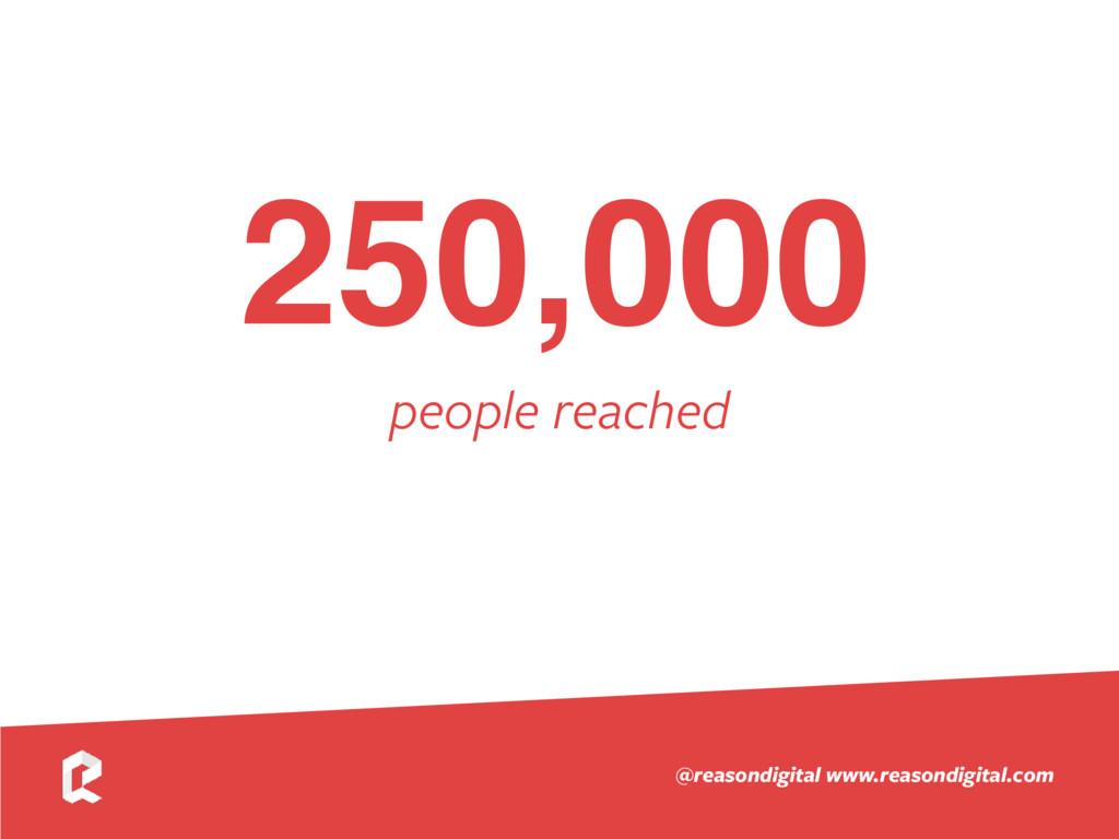 www.reasondigital.com @reasondigital 250,000 pe...