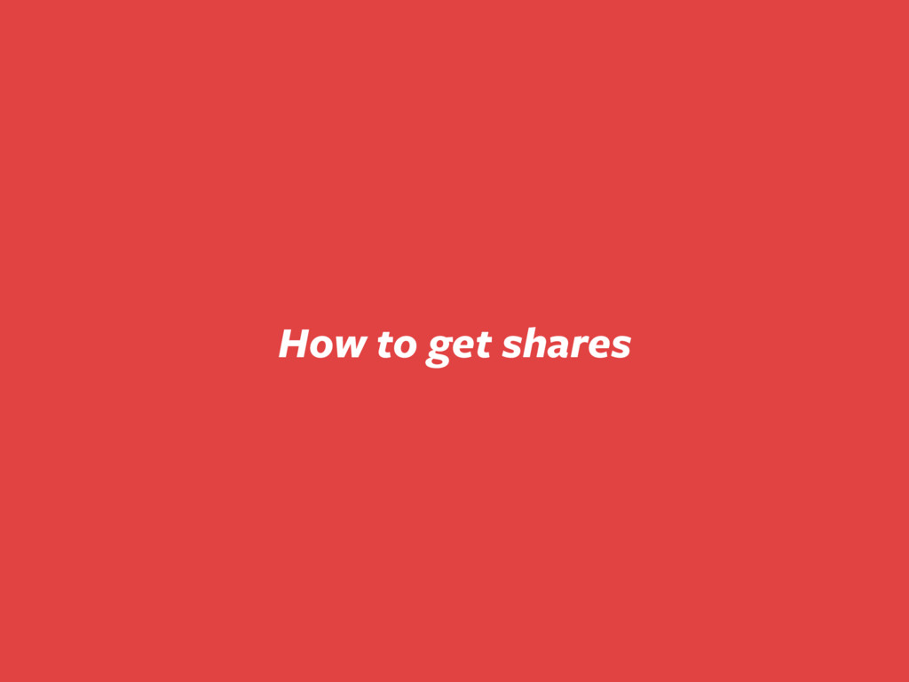 How to get shares