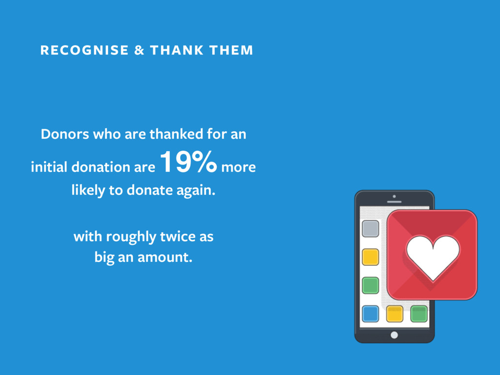 RECOGNISE & THANK THEM Donors who are thanked f...