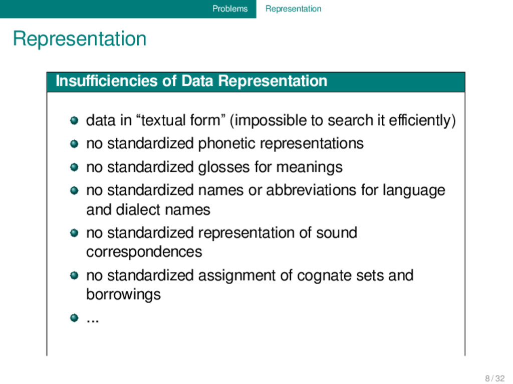 Problems Representation Representation Insufficie...