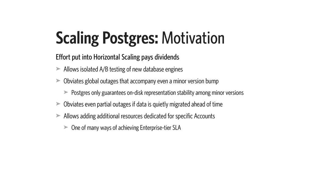 Scaling Postgres: Motivation Effort put into Ho...
