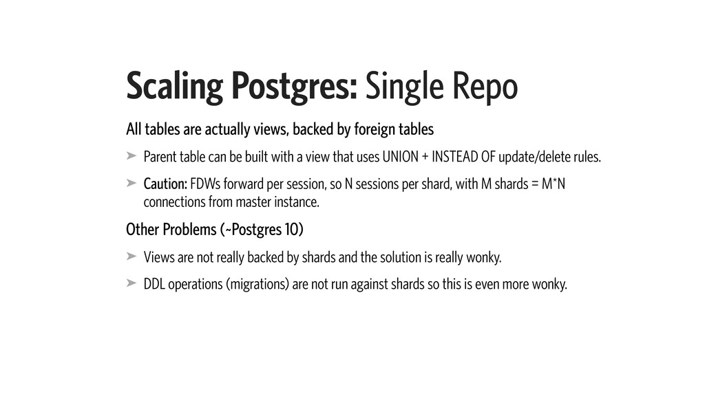 Scaling Postgres: Single Repo All tables are ac...