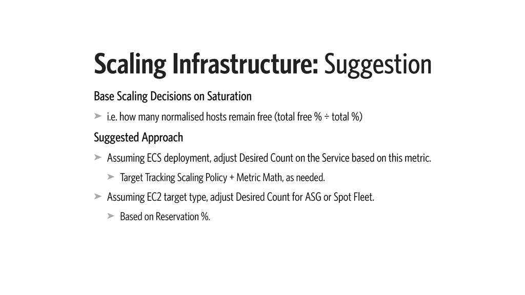 Scaling Infrastructure: Suggestion Base Scaling...