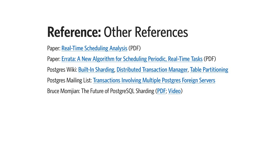 Reference: Other References Paper: Real-Time Sc...