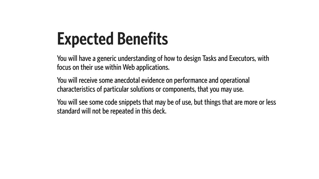 Expected Benefits You will have a generic under...