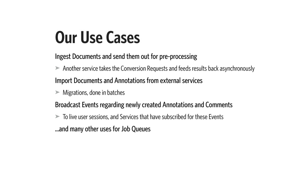 Our Use Cases Ingest Documents and send them ou...