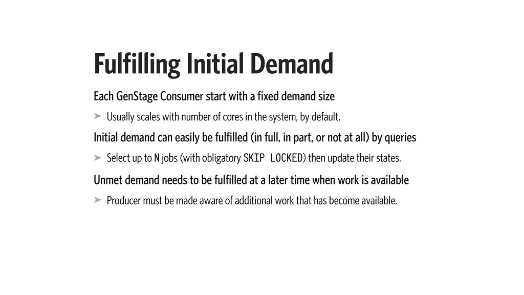 Fulfilling Initial Demand Each GenStage Consume...