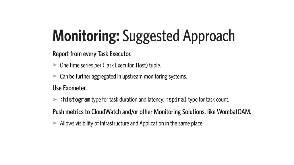 Monitoring: Suggested Approach Report from ever...