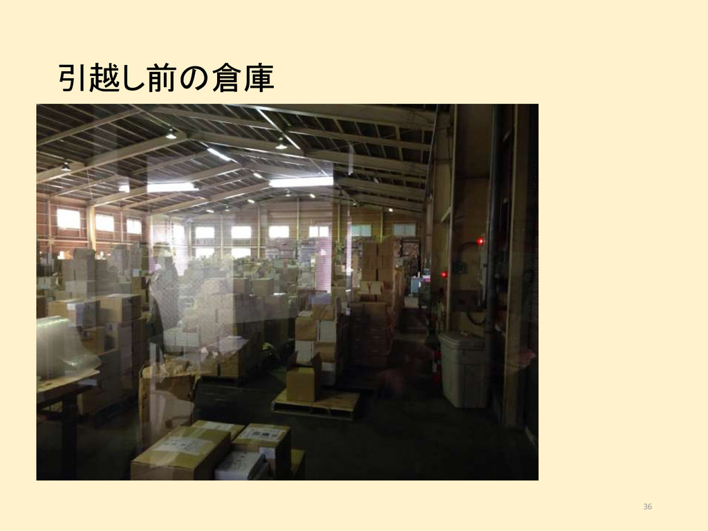 引越し前の倉庫 36